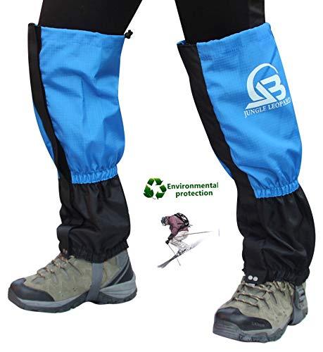Guêtres de jambe imperméables et respirantes Snow Tissu en nylon anti-poussière , Chaussures de chaleur Couverture pour le ski Marche Escalade Montagne Pêche en Plein Air