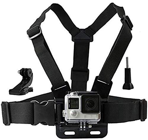 LONDON FAB Sangles de caméra d'action, compatibles avec Toutes Les caméras Gopro et d'action (Harnais de Poitrine)