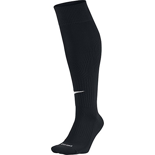 Nike - SX4120 - Chaussettes de football - Mixte adulte - Multicolore (Black/White) - L (Taille fabricant: 42-46)