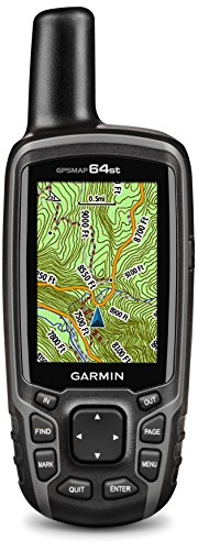 Garmin - GPSMAP 64st - GPS de Randonnée à Bouton Connecté - Compas, Altimètre Barométrique et Cartographie Préchargée - Noir/Gris
