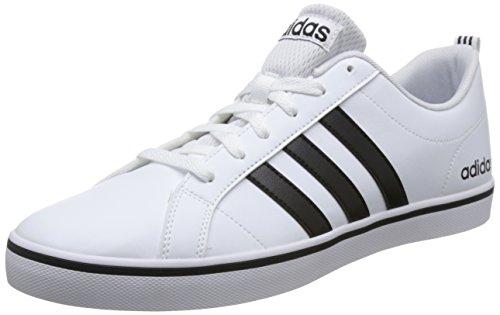 adidas Vs Pace Chaussures de Sport Homme, Blanc (Ftwbla/Negbás/Azul 000) 44 EU