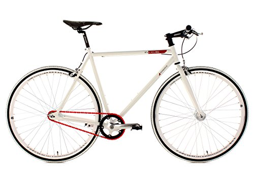 KS Cycling Essence Vélo Fixie 28' Blanc 59 cm