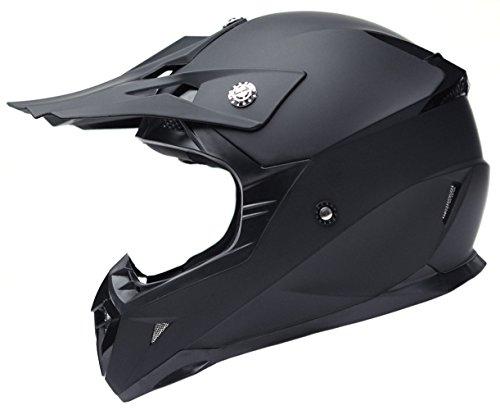 Casque Moto Cross Homme ECE Homologué-YEMA YM-915 Casque Intégral DH Enduro Femme Quad Motocross Adulte-Noir-L