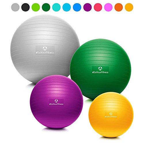 Ballon de gymnastique »Orion« avec pompe / ballon siège et ballon de fitness robuste de / 85 cm / skyblue