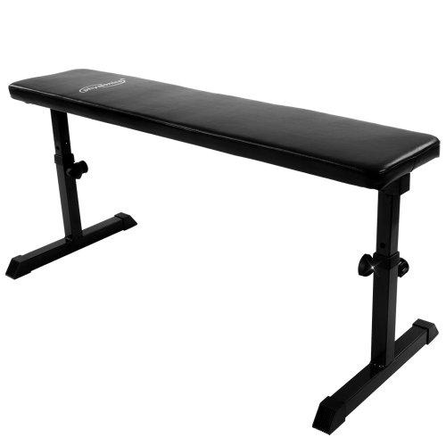 Physionics Banc de Musculation | Réglable en Hauteur | Charge Max. 200 kg | Banc Plat d'exercice, Fitness Banc