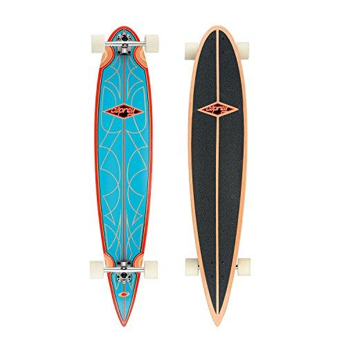 Osprey Rockabilly Longboard Mixte Adulte, Bleu/Rouge/Noir