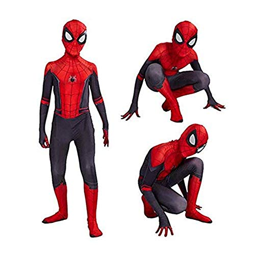 FINDPITAYA Déguisement Spiderman Far from Home Enfant Spiderman Cosplay Costume avec Masque (XL 130-140)