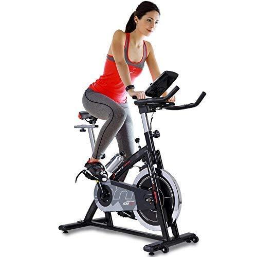 Sportstech Vélo d'appartement ergomètre SX200 avec Commande par Application Smartphone, Poids d'inertie 22 KG, Supports pour Bras, cardiofréquencemètre, Silencieux, 125 kg Max. (SX200)