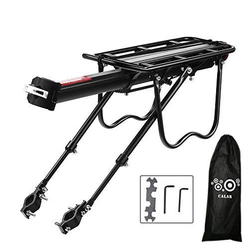 Vélo Porte Bagage, Universel Transporteur Porte bagages arrière de vélo bicyclette accessoires Équipement Vélo Racks avec Réflecteur pour de Longues de Cyclisme