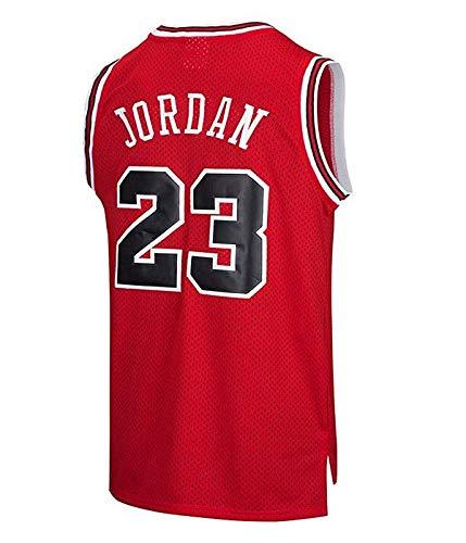 MTBD Maillot de Basket, NBA #23 Retro Bulls Michael Jordan, Broderies Respirantes et Résistantes à l'usure, T-Shirt pour Hommes et Fans