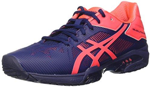 ASICS Gel-Solution Speed 3, Chaussures de Tennis Femme, Bleu (Indigo Blue/Diva Pink), 42 EU