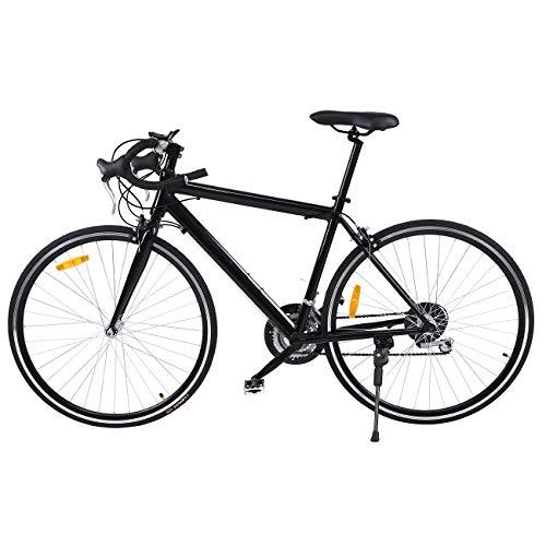 MuGuang 26' Aluminium vélo de Route Course Cycliste Road Bike 21 Vitesse vélo 700C (Noir)