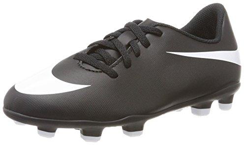 Nike Bravata II FG, Chaussures de Football Mixte Enfant, Noir (Black/White-Black), 35 EU