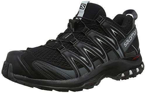 Salomon Homme Chaussures de Trail Running, XA PRO 3D, Couleur: Noir (Black/Magnet/Quiet Shade), Pointure: EU 43 1/3