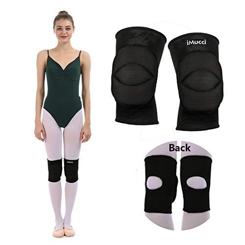 iMucci Genouillère de Danse Professional Sports Danse Classique 2 cm éponge épaisse Rotule ...