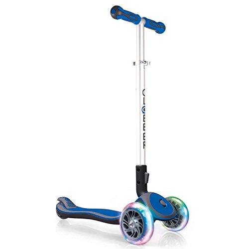 Globber Elite Light Wheels Trottinette 3 Roues Mixte Enfant, Bleu, Taille Unique