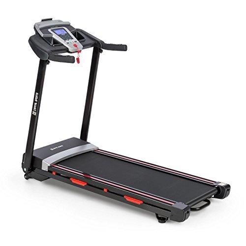 Capital Sports Pacemaker F80 • Tapis de Course • 3,5 ch de Puissance maximale • Ecran LCD lisible • De 1 à 16 km/h • 9 programmes • Repliable à Plat • Enceintes intégrées • Noir