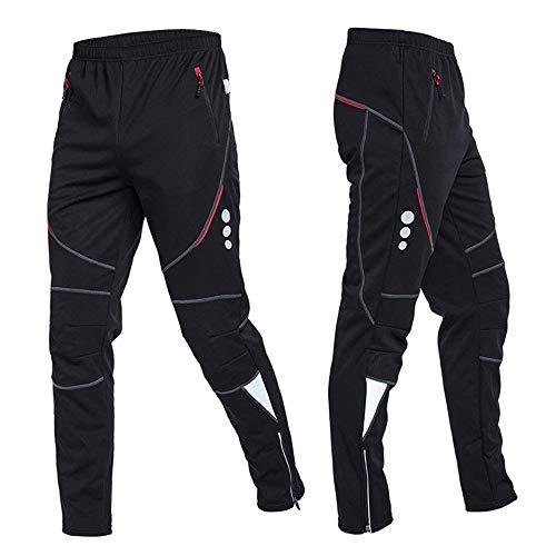 Explopur Pantalon de Cyclisme pour Homme - Veste en Molleton Thermique Coupe-Vent en Cours d'exécution sur Les Pantalons de Sport - 5Tailles
