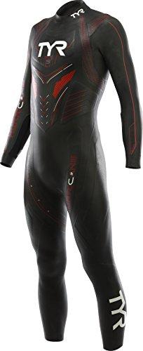 TYR Hurricane C5 Combinaison Triathlon Homme, Noir/Bleu, FR : L (Taille Fabricant : L)