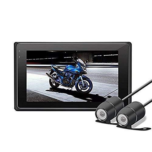 """Dash Cam Moto, OXOQO haute définition 3.0"""" 1080P+720P avant arrière caméra de moto, enregistreur de moto avec G-Sensor, enregistrement en boucle, mode Nite, WDR"""