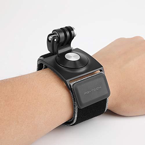 Hensych PGYTECH Caméra d'action Main et Poignet Sangle pour DJI Osmo Pocket,pour GoPro 5/6/7, Respirabilité Anti dérapage Taille Ajustable Rotation à 360 degrés