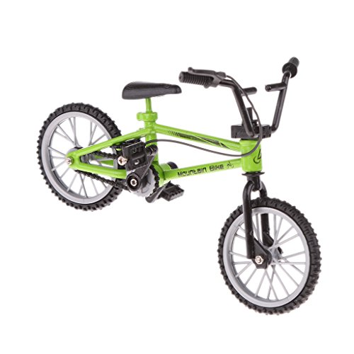 Gazechimp Jouet de Doigt Mini Vélo BMX Educatif Créatif Figurine Cadeaux Enfants Vert
