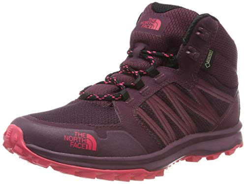 The North Face Litewave Fastpack Mid Gore-tex, Chaussures de Randonnée Hautes Femme, Marron (Fig/Atomic Pink 5um), 40 EU