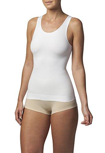 SLEEX Débardeur Gainant (Dos Haut), Blanc, Taille L/XL (44042) - Hauts Sculptants Gaine Amincissante pour Minceur Ventre Plat pour Femme
