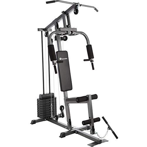 TecTake Station de Musculation Home-Trainer | Module Papillon | Dispositif d'Extension de Jambe | 8x4,5 kg | Barre de Traction - diverses modèles