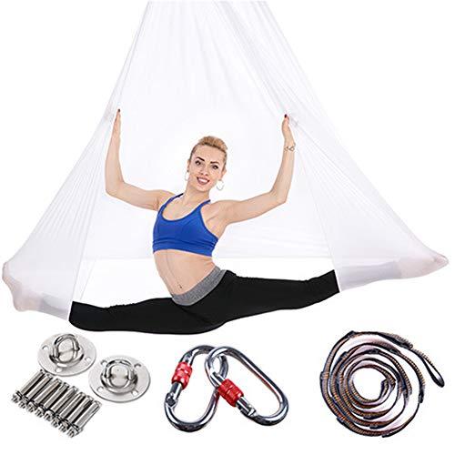 CDKZK Balançoire de Yoga Aérien avec Sangle de Yoga Aérien/Hamac de Yoga/Mousse Rembourrée Nylon Antigravité Ultra Forte Traitement d'Inversion de Décompression pour Yoga Aérien/Exercices,A