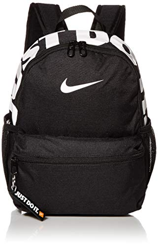Nike Y NK BRSLA JDI Mini BKPK Sac à Dos de Sport Mixte Enfant, Black/Black/(Glossy White), FR Unique (Taille Fabricant : MISC)