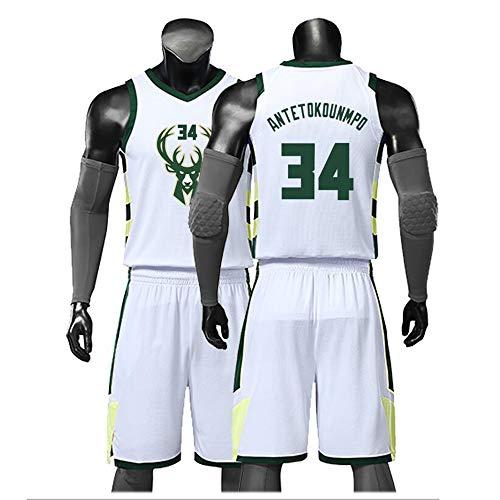 YSYSW Milwaukee Bucks 13ème Maillot Basket NBA, Giannis Antetokounmpo Sports D'été Maillot Basket,Uniformes de Basket pour Adultes et Enfants, Uniforme De Basket Y Compris Les Shorts