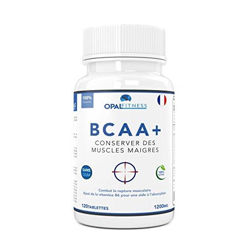 BCAA | Comprimés de BCAA | Acides aminés à chaîne ramifiée 1200mg | BCAA+ avec ajout de vitamine B6 pour améliorer l'absorption | Leucine, Isoleucine Et Valine | Opal Fitness