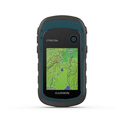Garmin - eTrex 22x - GPS de randonnée avec cartographie TopoActive Europe préchargée avec routes et sentiers routables - Compas électronique - Bleu