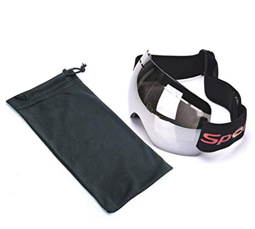 rainday Lunettes de Ski sans Monture OTG pour Snowboard et Neige, Anti-buée, Anti-éblouissement, lentilles interchangeables, Protection UV400 100% pour Homme et Femme