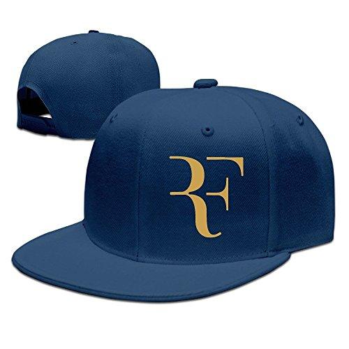 Yhsuk Roger Federer Logo Unisex Fashion Cool Adjustable Snapback Baseball Cap Hat One Size Navy