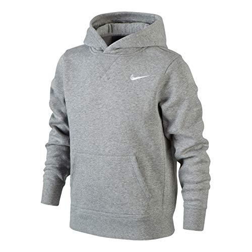 Nike Brushed Sweat-shirt à capuche Garçon ,  Noir/Blanc-XL