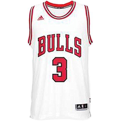 adidas T-Shirt Chicago Bulls de Basket-Ball, CC2543, Homme XXS Multicolore
