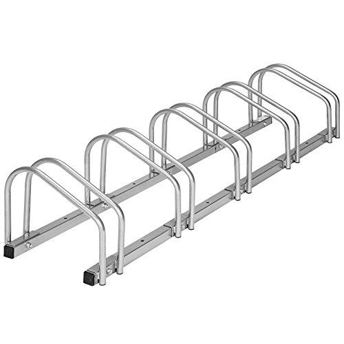 TecTake Râtelier range-vélo pour vélos | en acier revêtu - diverses modèles - (pour 5 Vélos | no. 402379)