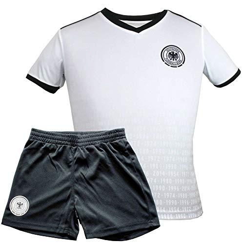 MC Trend Maillot de Football pour Enfant Original DFB - Tous Les titres EM/WM Titel - Maillot et Pantalon de l'équipe Nationale de l'Allemagne, 12 Ans
