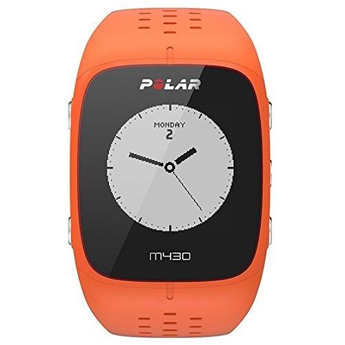Polar - M430 - Montre Running GPS avec suivi de la Fréquence Cardiaque - Orange - Taille M-L