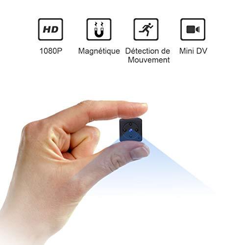Mini Camera Espion,NIYPS Full HD 1080P Portable sans Fil Nanny Caméra Cachée Spy avec Vision Nocturne et Détection de Mouvement pour Micro Caméra de Surveillance de Sécurité Intérieure / Extérieure