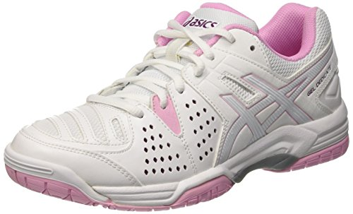 ASICS Gel-Dedicate 4 W, Chaussures de Tennis Femme, Multicolore (White/Cotton Candy/Plum), 37 EU