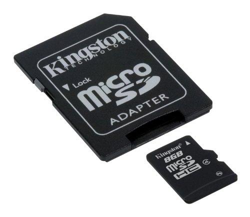 Kingston - SDC4/16GB - Carte Micro SDHC - Classe 4 - 16 Go avec Adaptateur