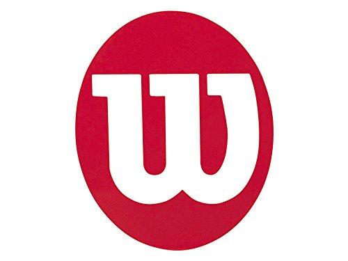 Wilson Pochoir Logo, Stencil W, Pour Raquette de Tennis, Rouge, X0015 MP