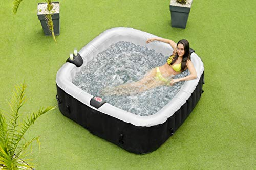 O'Spazia Carre Spa Gonflable 6 Places, Noir