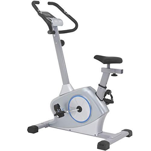 ISE Vélo d'Appartement Ergomètre Cardio,Système de Freinage Magnétique Haute Performance,Masse d'Inertie 12Kg avec Support de Tablette,SY-8608