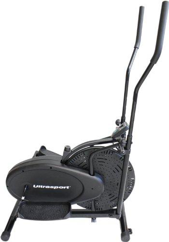 Ultrasport Vélo elliptique Basic X-Trainer 100 / Vélo elliptique avec ordinateur et régulateur de résistance – Vélo d'intérieur certifié TÜV/GS pour le renforcement des jambes, des fesses, des hanches, des bras, des épaules, et la...