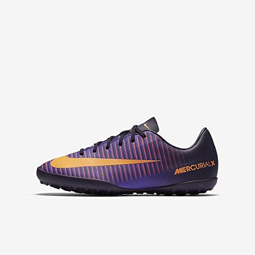 Nike 831949-585, Chaussures de Football Garçon, Violet (Purple Dynasty/Bright Citrus-Hyper Grape), 35.5 EU