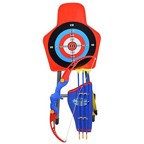 Inside Out Toys Jeu de tir à l'arc pour Enfants, Arc et flèches avec Cible et carquois